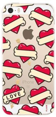 Flavr iPlate pouzdro pro iPhone 5/5S/SE, Srdce