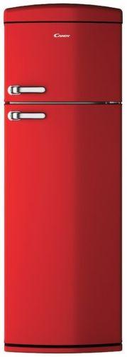 Candy CVRDS 6174RH, červená kombinovaná chladnička