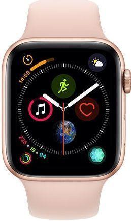 Apple Watch Series 4 44mm zlatý hliník/sportovní růžový řemínek