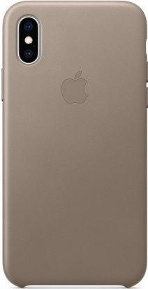 Apple kožené pouzdro pro Apple iPhone XS, kouřová
