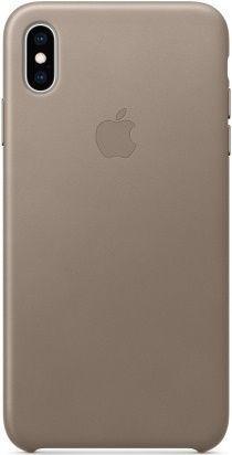 Apple kožené pouzdro pro Apple iPhone XS Max, kouřová