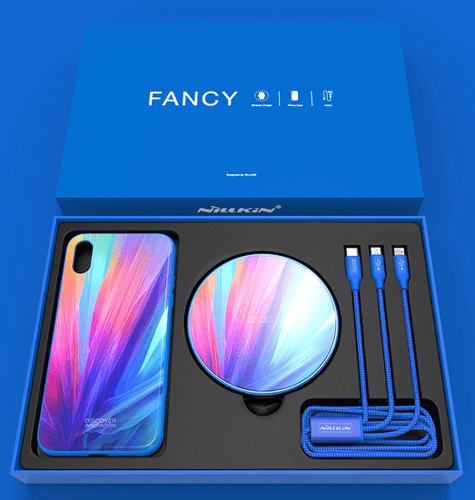 Nillkin Fancy set pre iPhone X, modrá