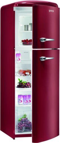 Gorenje RF60309OR, bordová kombinovaná chladnička