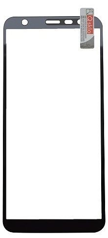 Qsklo Full Cover 2D ochranné sklo pro Samsung Galaxy J6+, černá