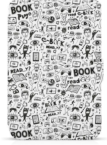 Connect IT Doodle pouzdro pro čtečku e-kníh PocketBook 624/626 bílé