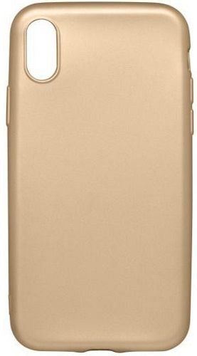 Mobilnet metalické pouzdro pro Apple iPhone X/Xs, zlatá