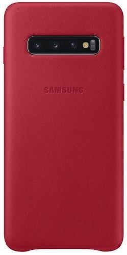 Samsung Leather Case pro Samsung Galaxy S10+, červená
