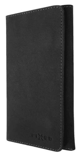 Fixed Pocket Book kožené pouzdro pro Apple iPhone X/Xs, tmavě šedá