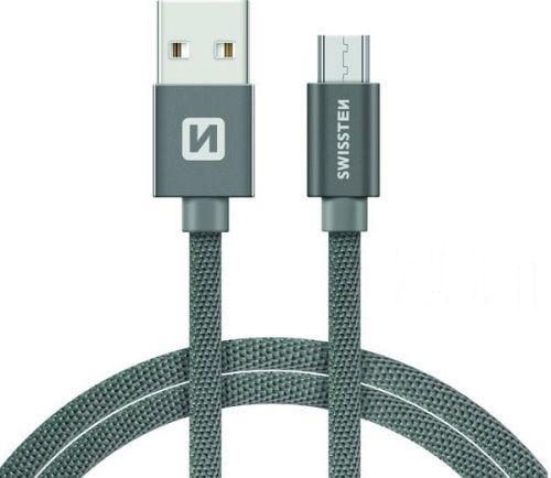 Swissten kabel USB/Micro USB 2,0 m, šedá