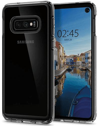 Spigen Crystal Hybrid pouzdro pro Samsung Galaxy S10e, transparentní