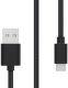 Sturdo Micro USB kabel 2A 1,5m, černá
