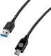 Sturdo USB-C kabel 3A 1m, černá