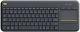 Logitech Wireless Touch Keyboard K400 Plus CZ/SK černá