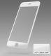 Sturdo 3D Ochranné sklo Fiber iPhone 6/6S bílý karbon