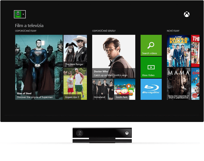 Sledovanie televízie - Xbox One 500 GB