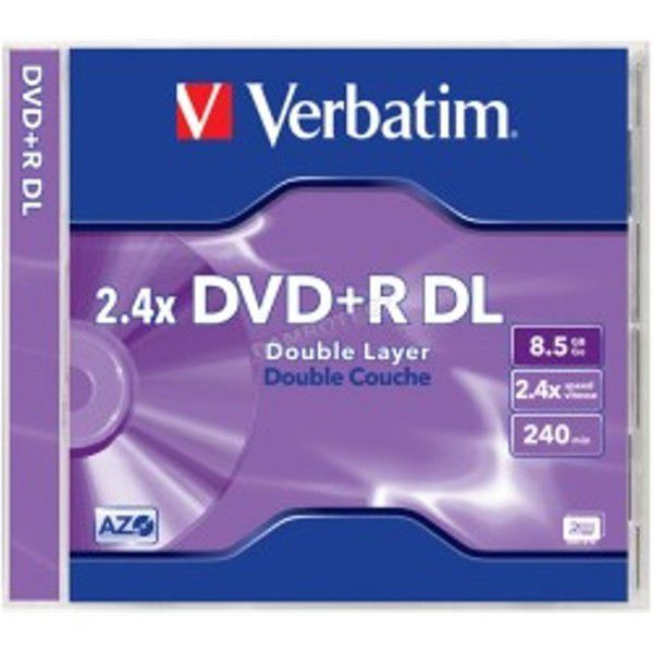 Verbatim DVD+R 8,5GB Dual Layer 2,4x, 1ks