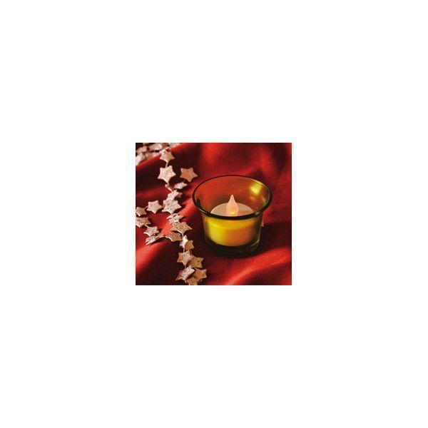Somogyi CDG 1 / YE LED čajová svíčka v barevném skleněném držáku (žlutá)