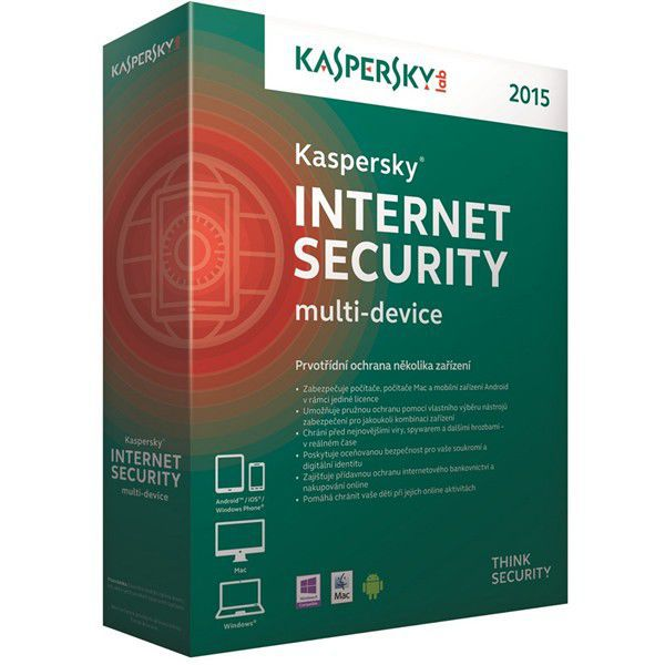 KASPERSKY Internet Security 2015 CZ 3x/1rok