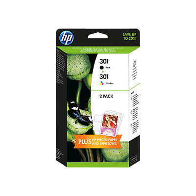 HP J3M81AE No.301 black + No.301 color - inkoust
