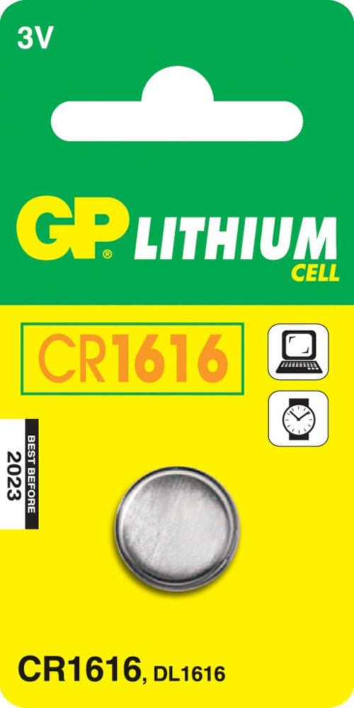 GP CR1616 1ks - lithiová knoflíková baterie