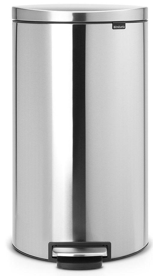 BRABANTIA 482007 Flatback, pedálový koš 30L matná ocel