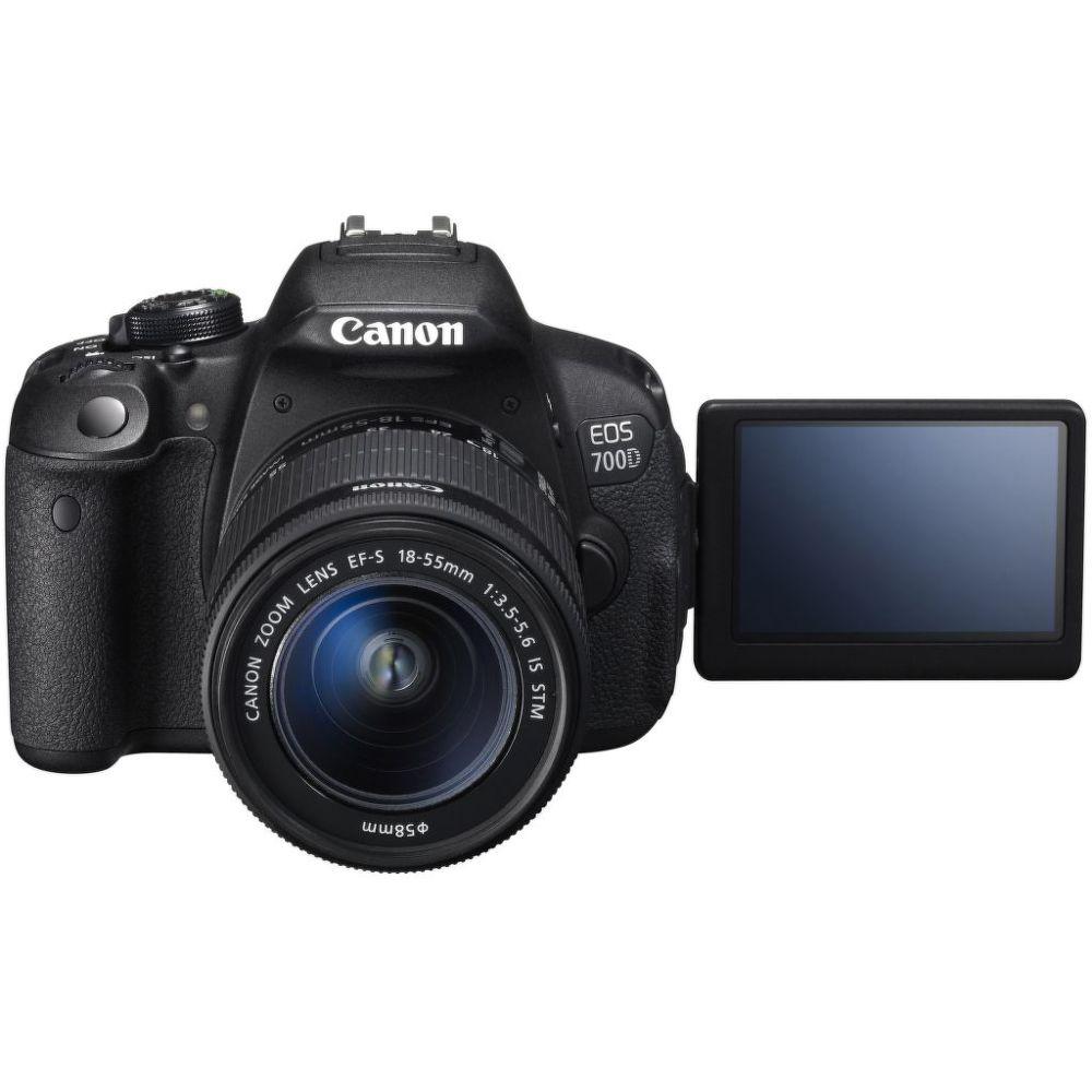 Canon EOS 700D + EF-S 18-55mm f / 3.5-5.6 IS STM+náhradní akumulátor+čistící utěrka
