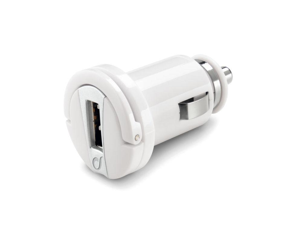CellularLine mini autonabíječka s USB výstupem, 1A (bílá)