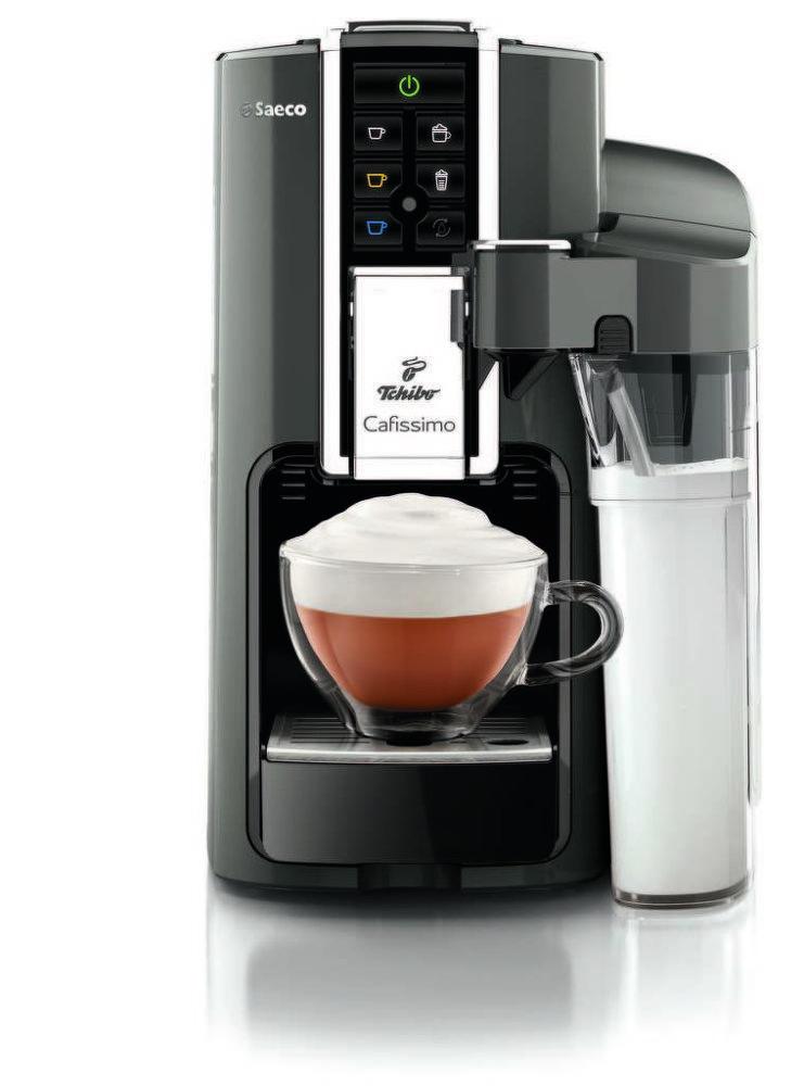 TCHIBO Cafissimo Latte Argento (stříbrná) - Kapsulový kávovar