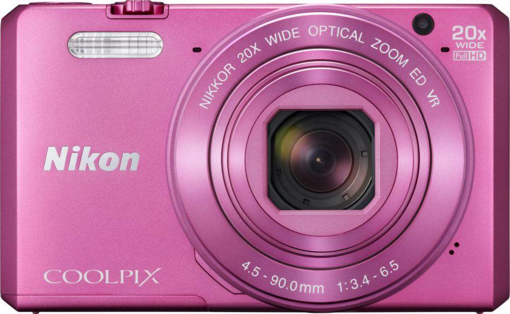 Nikon Coolpix S7000 (růžový) + pouzdro