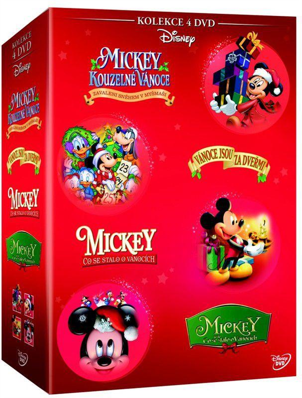 Vánoční Mickey - kolekce 4x DVD