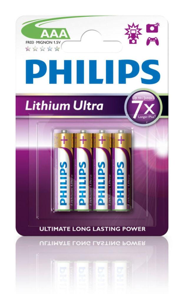 Philips Lithium Ultra AAA (FR03), 4ks