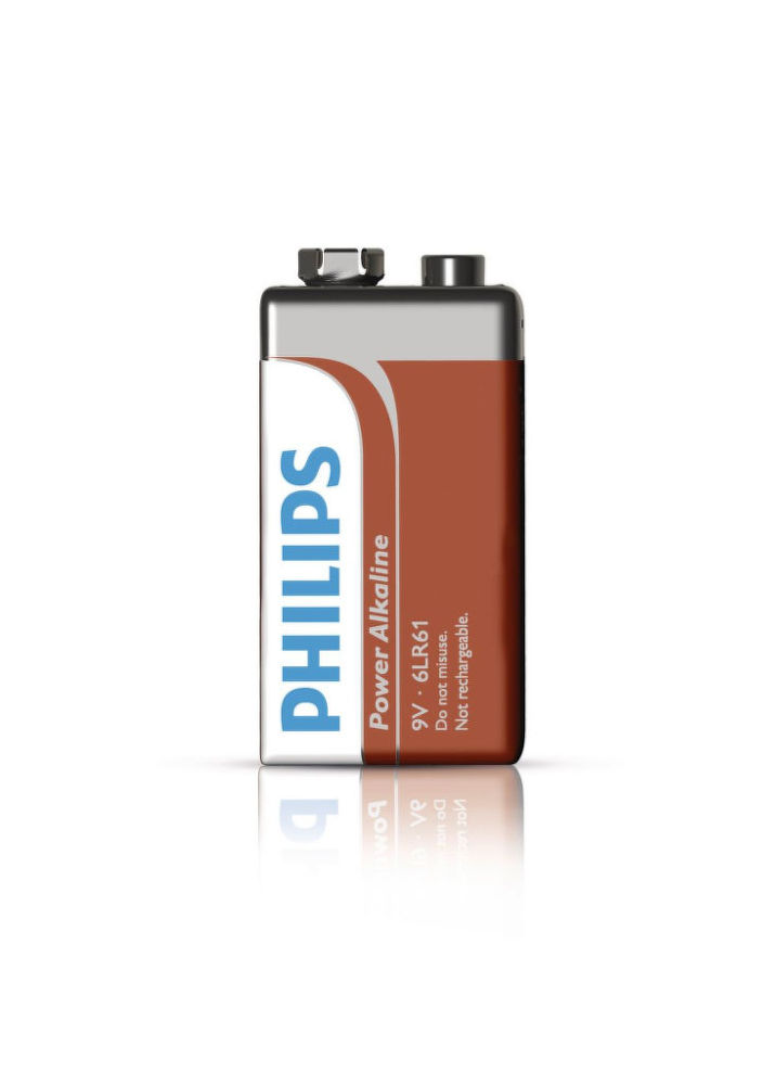 Philips Power Alkaline 9V (6LR61), 1ks