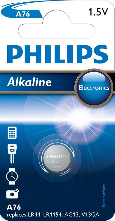 Philips Alkaline Mini A76, 1ks