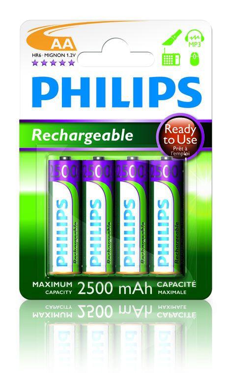 Philips MultiLife 2500mAh AA (HR6), 4ks