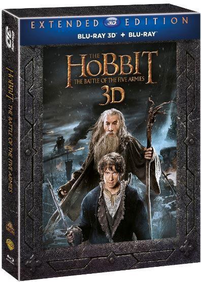 Hobit: Bitva pěti armád (3D+2D) - prodloužená verze - 5xBlu-ray