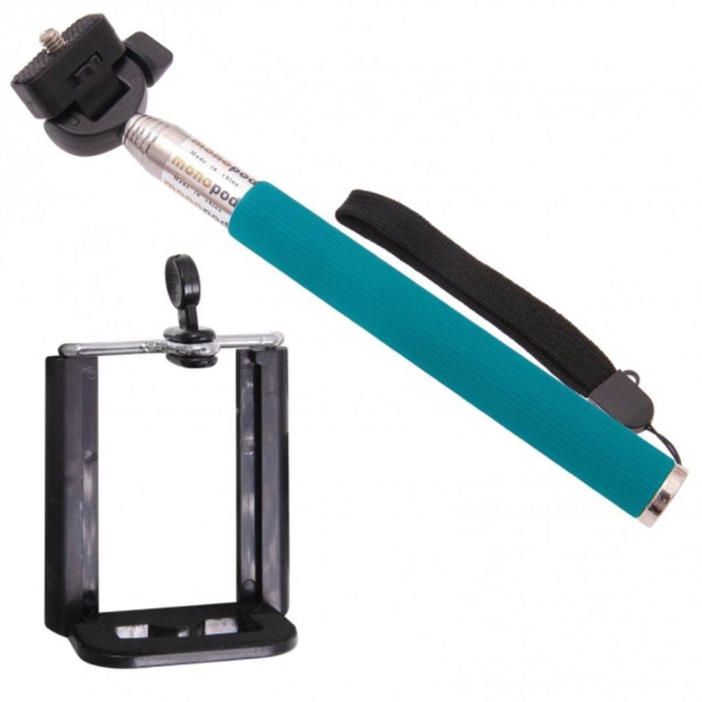 Aligator selfie tyč (modrá)