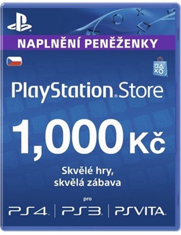 PlayStation Live karta pro nabití účtu za 1000Kč