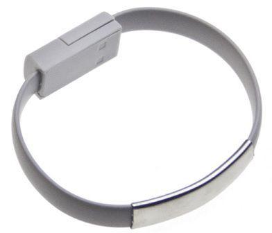 Aligator Bracelet nabíjecí kabel pro Apple iPhone 5/6 (šedý)