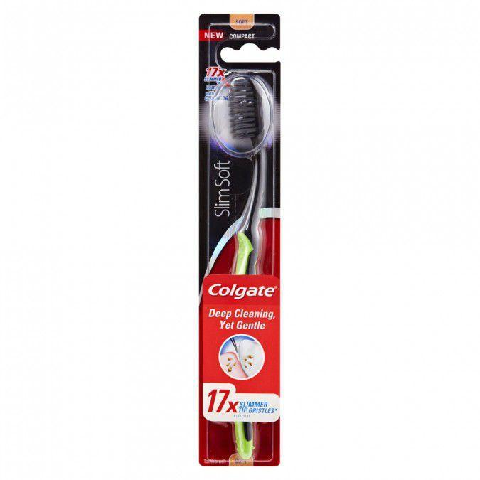 Colgate Slim Soft Charcoal, zubní kartáček