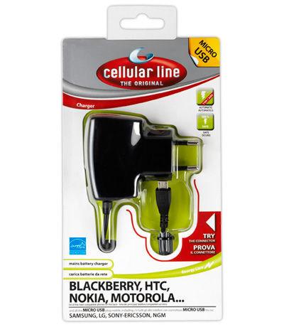 CellularLine Cestovní nabíječka CellularLine s konektorem microUSB, 1A