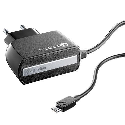 CellularLine Cestovní nabíječka Qualcom 2.0 micro USB (černá)