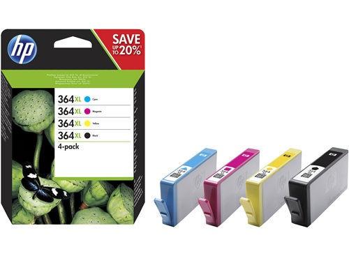 HP N9J74AE No.364XL (černá) + No.364XL (barevná) - inkoust
