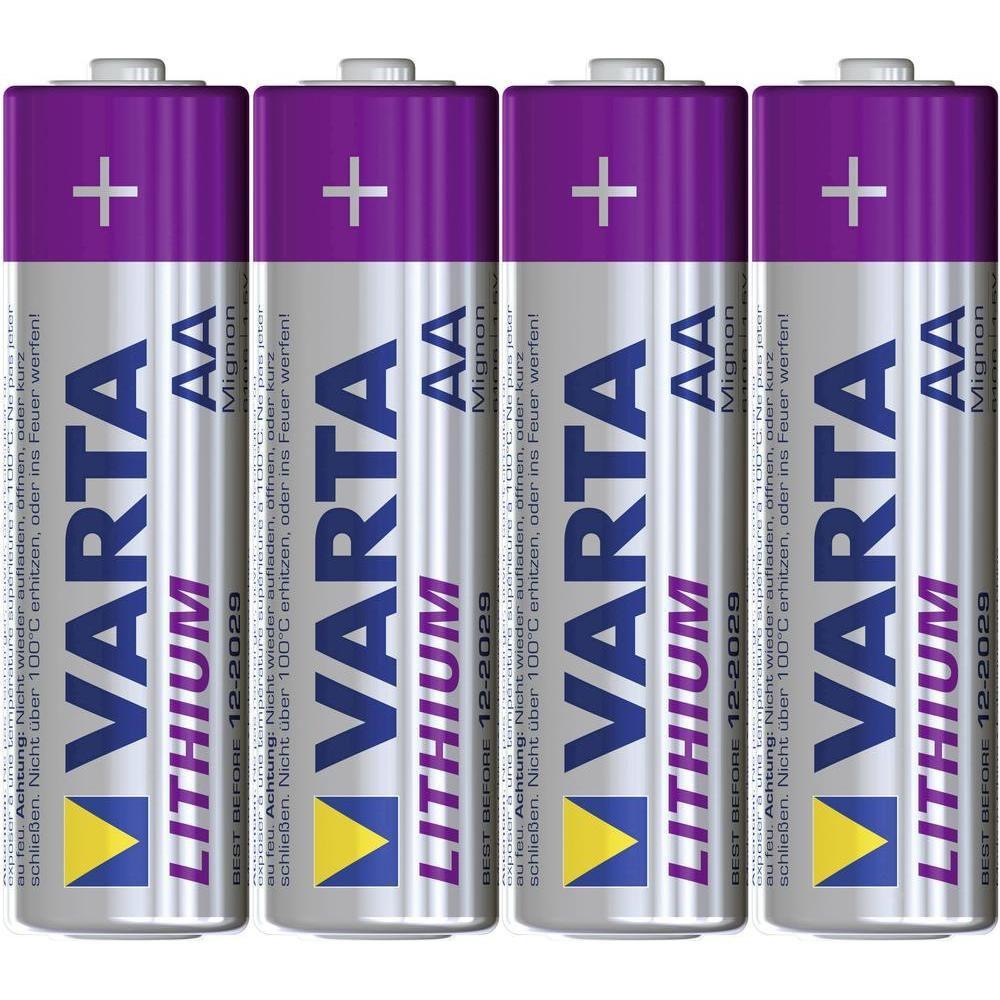 VARTA Lithium AA 3+1
