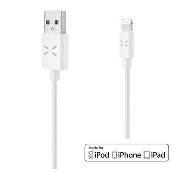 Fixed USB datový kabel s konektorem Lightning - PFI, 1m (bílý)