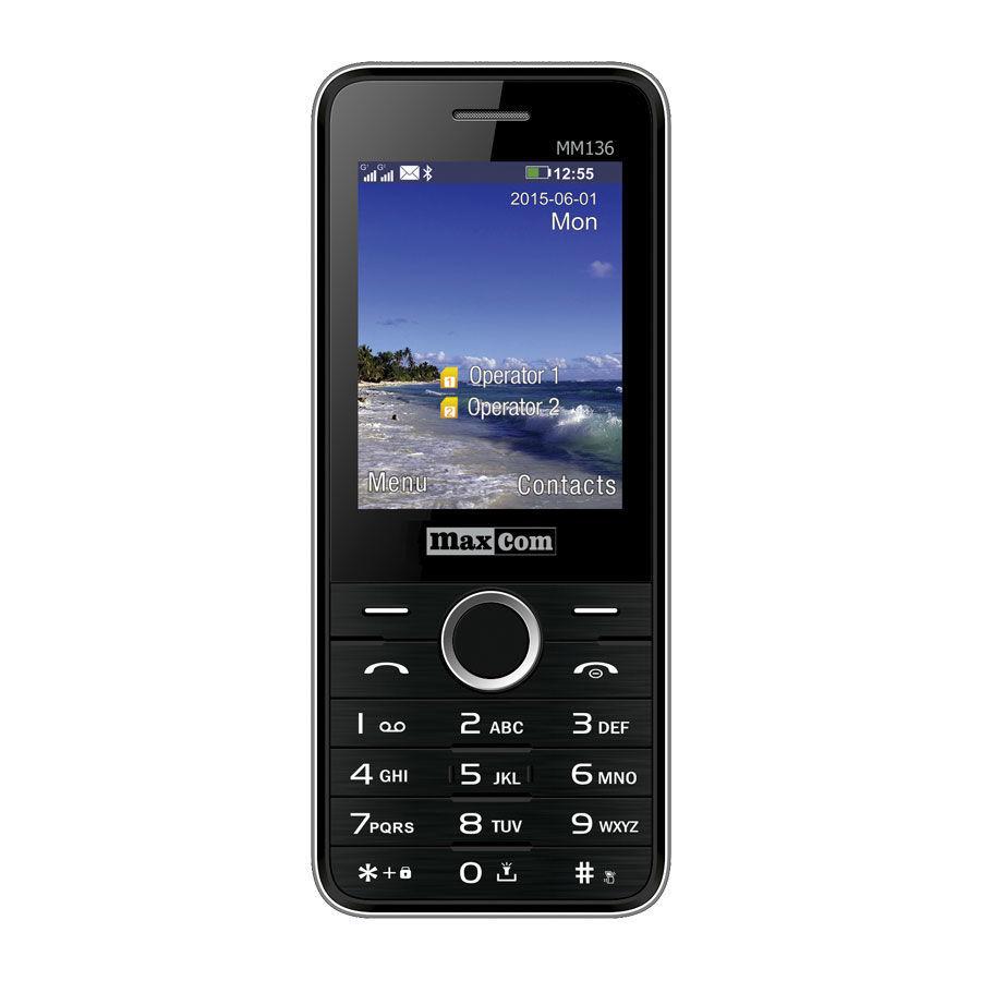 Maxcom MM136 DualSIM (černý)