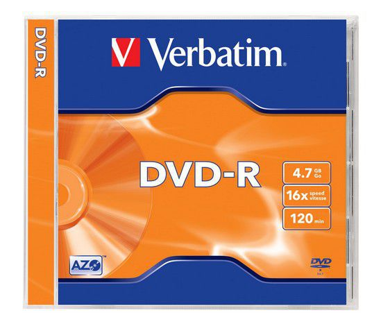 Verbatim DVD-R 4,7GB 16x jewel, 1ks