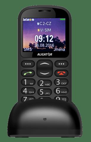 Aligator A880 + nabíjecí stojánek, A880BK (černý)