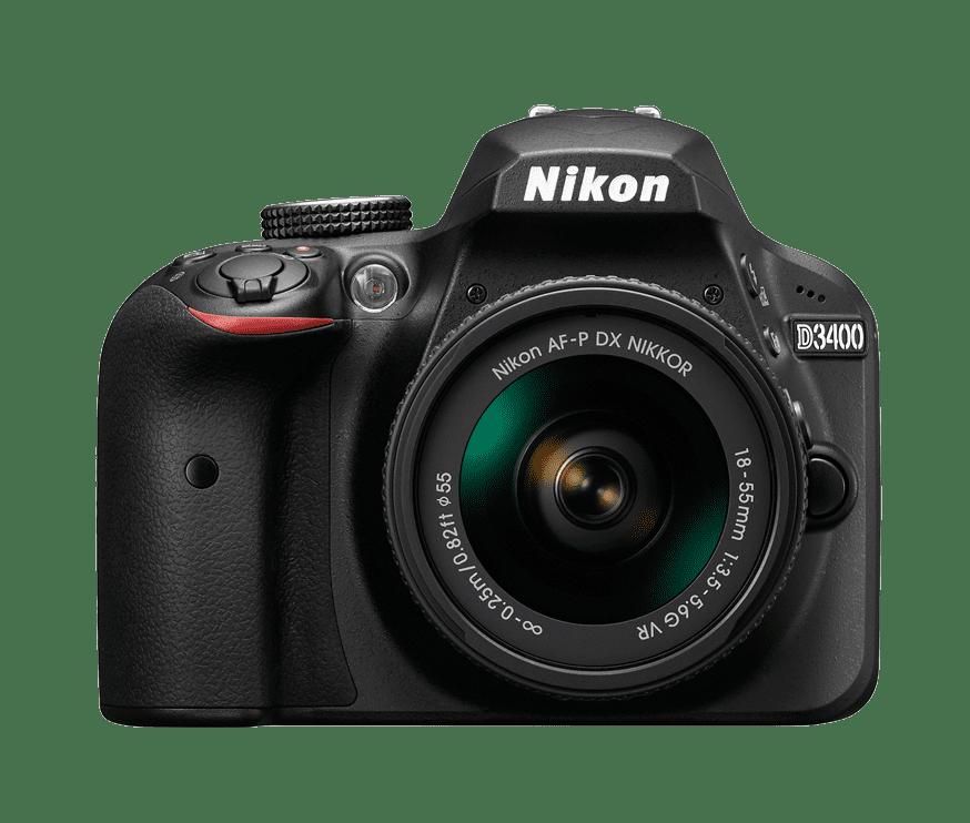 Nikon D3400 + AF-P DX 18–55 f/3,5–5,6G VR