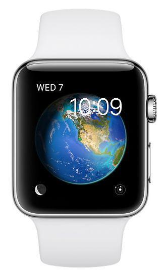 Apple Watch Series 2 42mm (nerezová ocel / bílý sportovní řemínek)