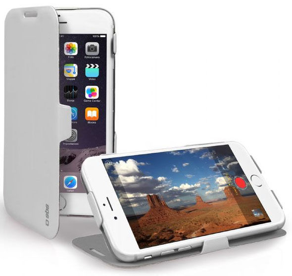 SBS pouzdro na iPhone 6/6s, TEBOOKSTIP647WP (bílé)